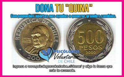 ONG Psicólogos Voluntarios de Chile lanza campaña #DonaTuQuina: Con pequeños aportes se pueden generar grandes cambios.
