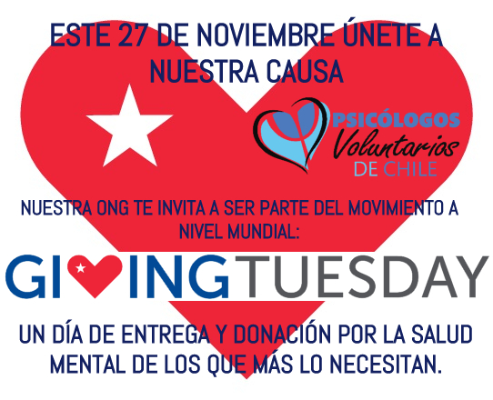 Psicólogos Voluntarios de Chile se suma a #GivingTuesday